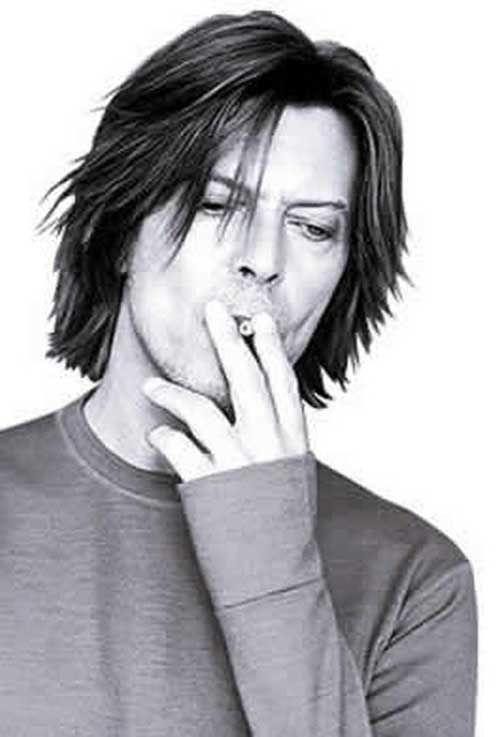 Cool Layered Straight Long To Medium Hairstyle Check More At Http Mensfadehaircut Com Layered Straight Long To Medium Ha David Bowie Lyrics Bowie David Bowie