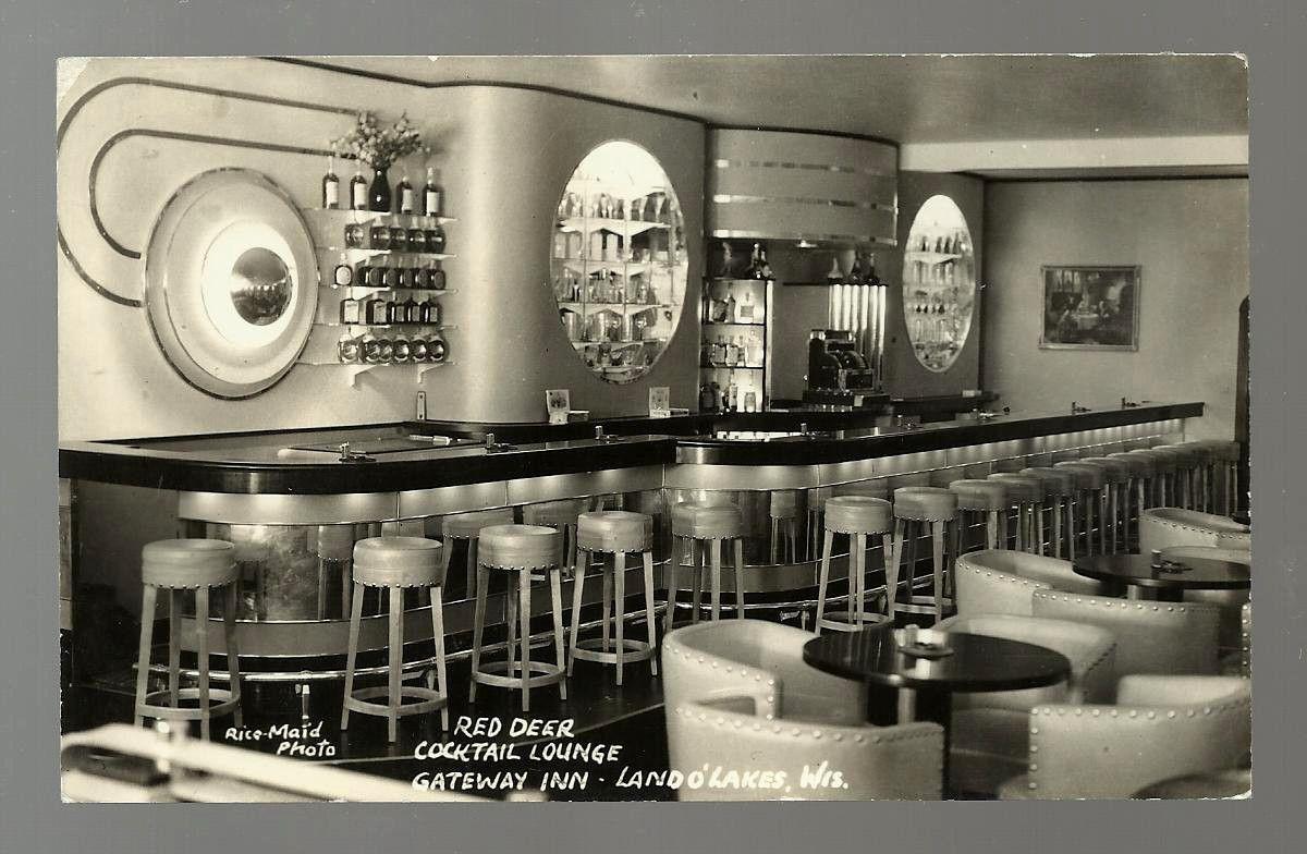 Land OLakes WI Red Deer Cocktail Lounge   Streamline Moderne ...
