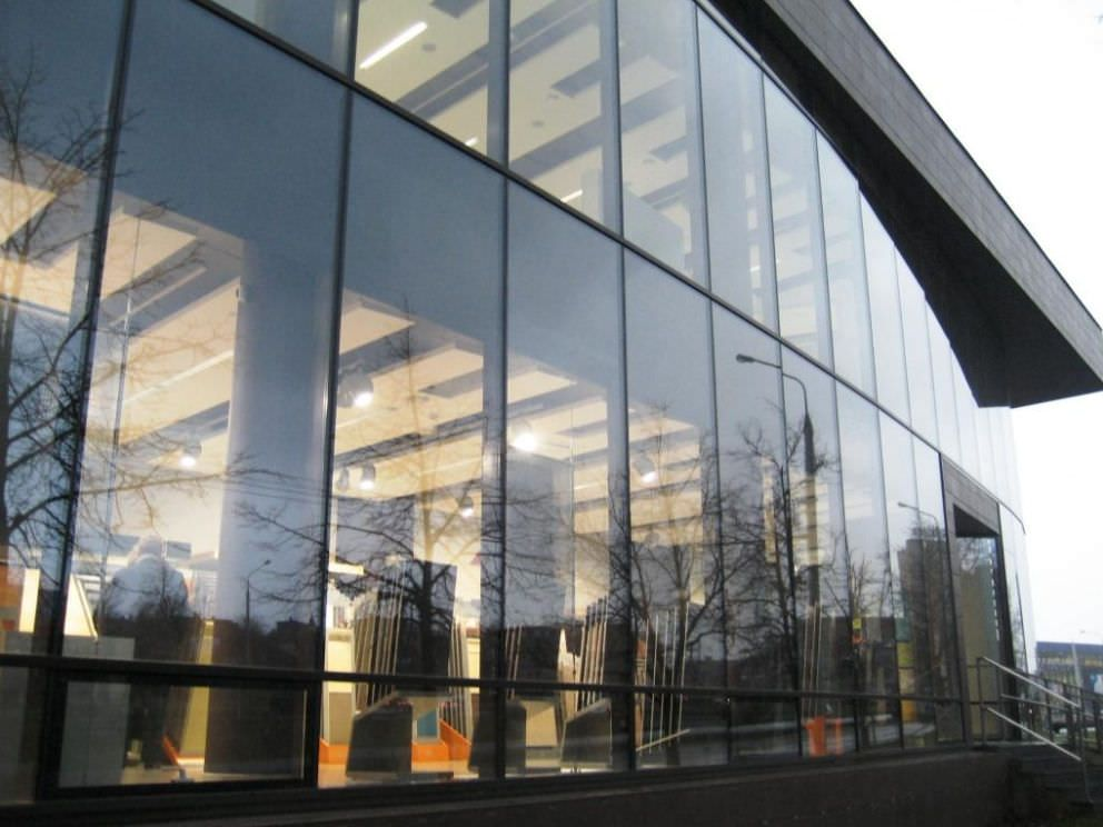 Stick system curtain wall aluminum and glass mullion for Window wall