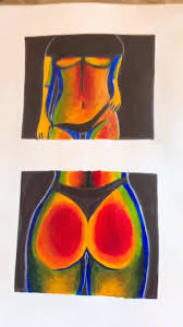 Thermal Body Art Tiktok Google Search In 2020 Mini Canvas Art Art Art Painting