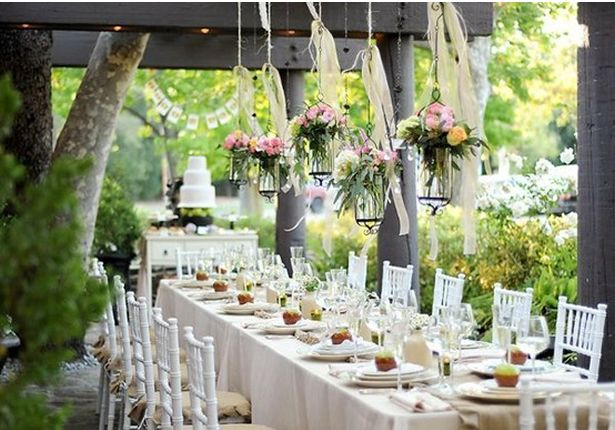 Are You Having An Engagement Party Outdoor Wedding Reception Decorations Country Wedding Decorations Outdoor Reception Decorations
