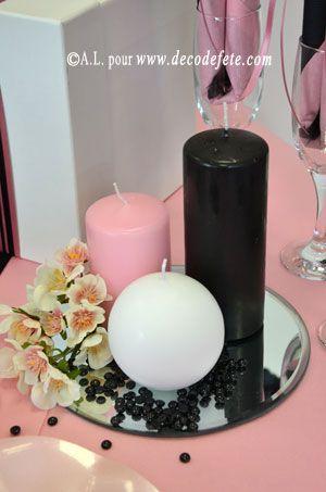 Pingl par sur deco table rose noire for Deco table rose et noir