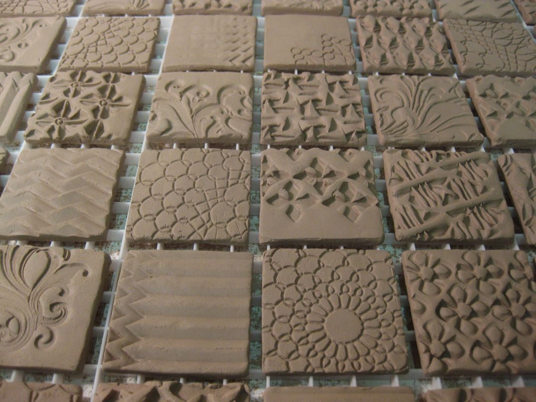 Textured Ceramic Tile Production By Gary Jackson Fire When Ready