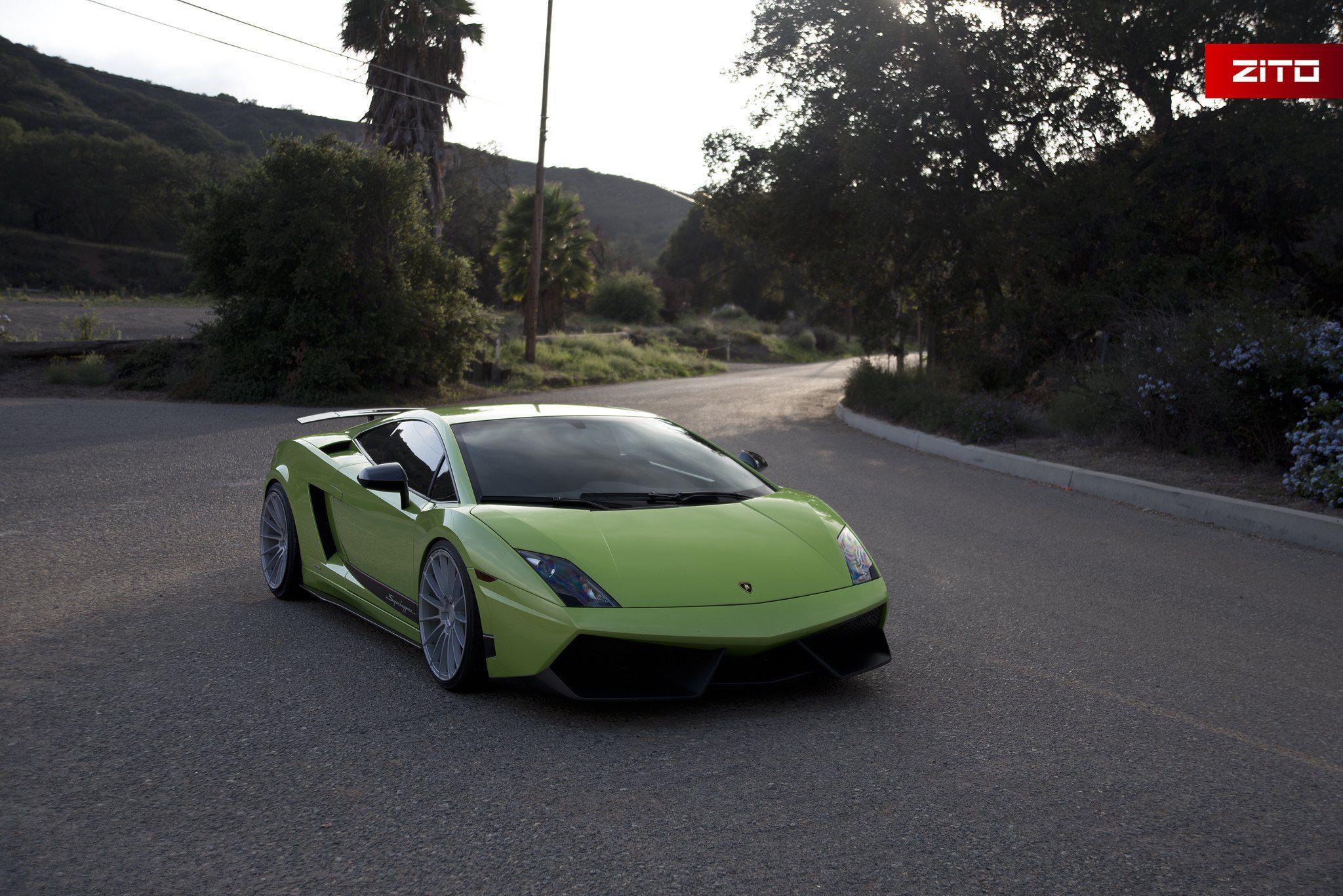Got Lime Amazing Lamborghini Gallardo With Rear Wing Spoiler Car
