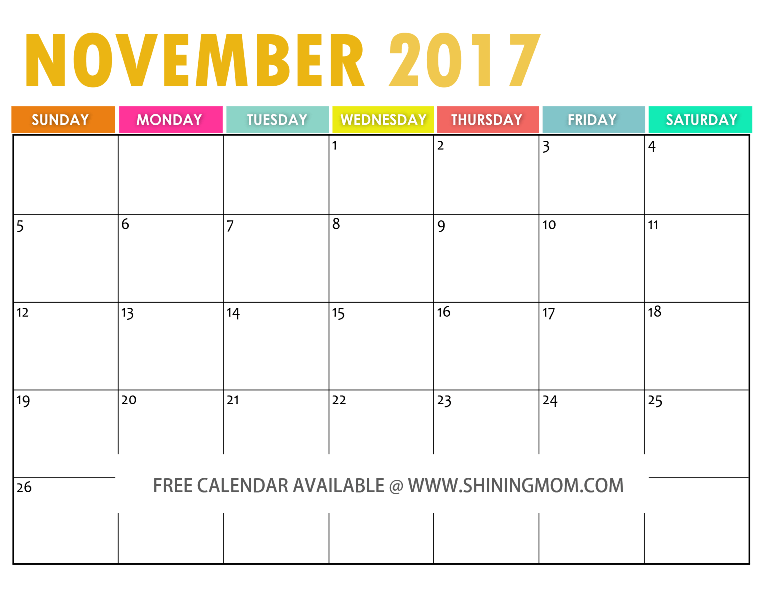 the free printable 2017 calendar by free printable free