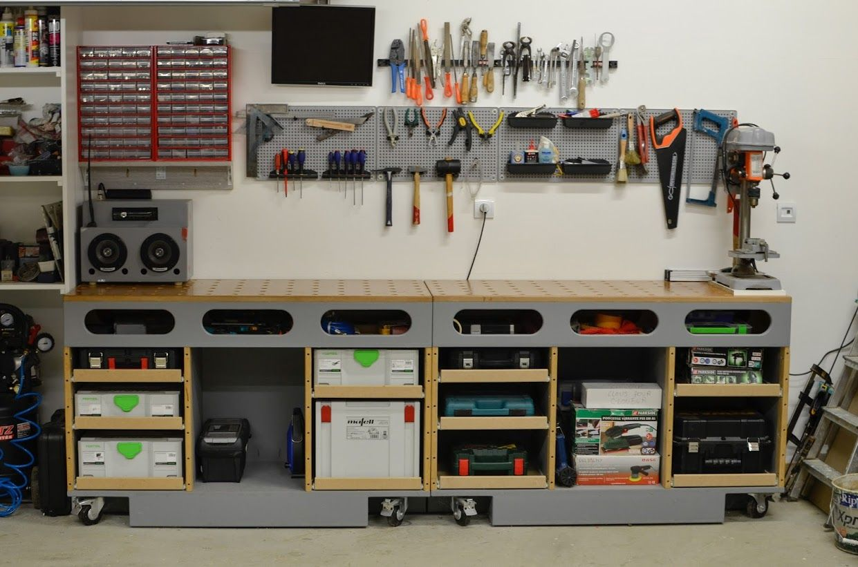 Table D Assemblage Porte Systainer Diy Termine Amenagement Atelier Rangement Garage Rangement Atelier
