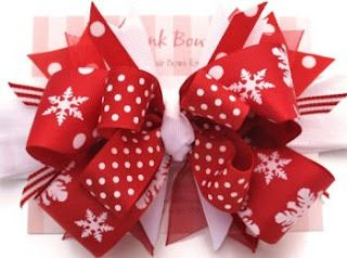 christmas hairbows - Bing Images