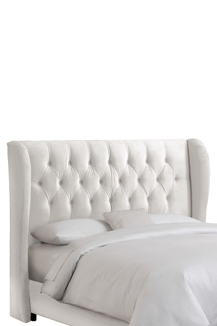 Tufted Wingback Headboard - like the curve of the wings (versus ...