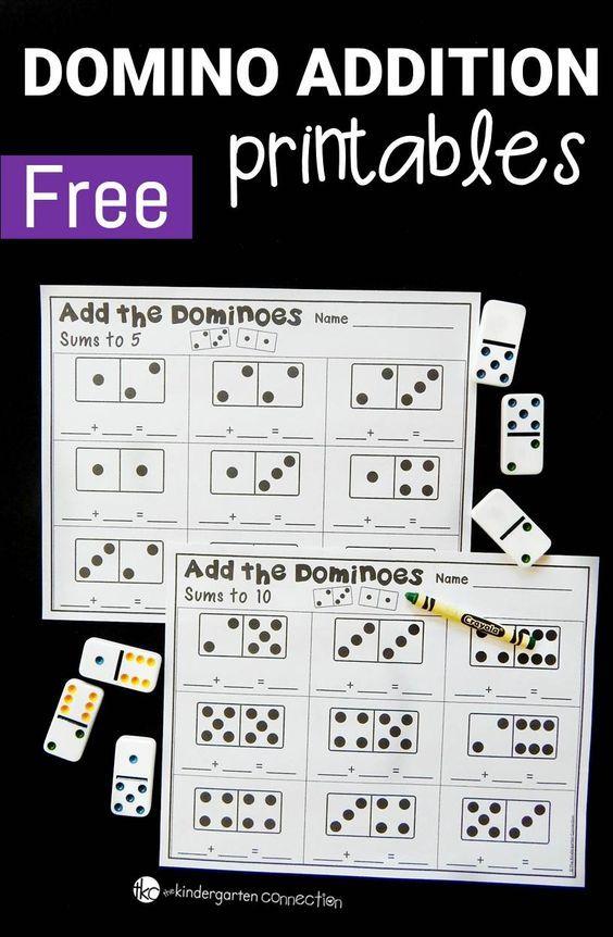domino addition printables kindergarten preschool math kindergarten math math. Black Bedroom Furniture Sets. Home Design Ideas