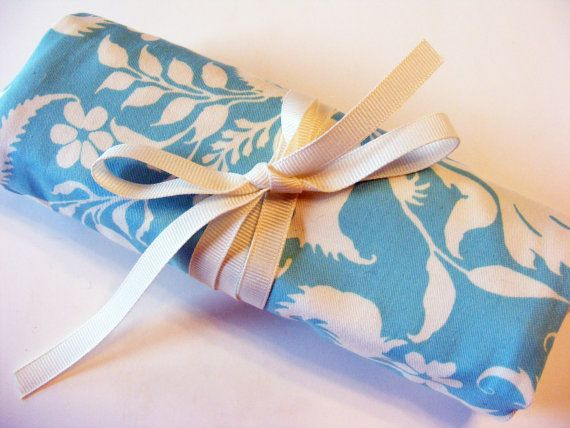 travel jewely roll bridesmaid gift teacher gift by TheRubyCottage,