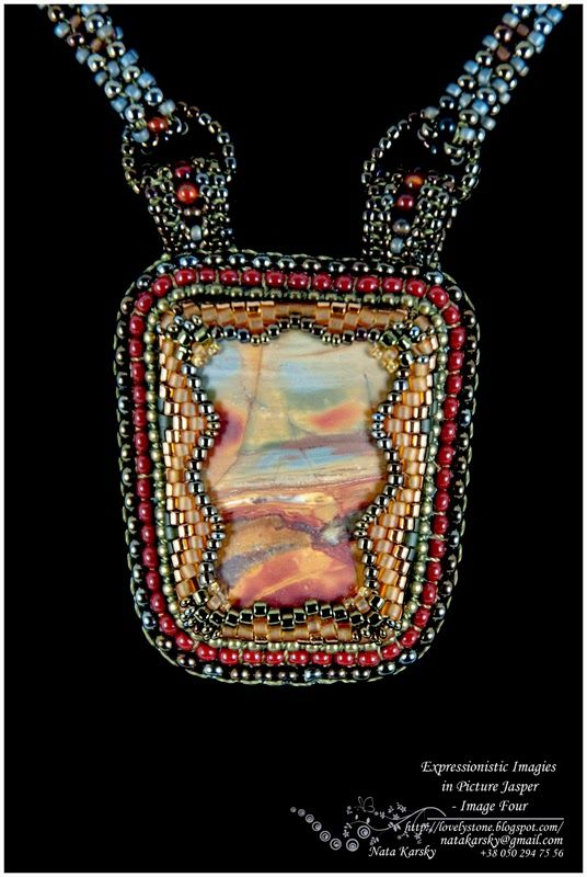 Lovely Stone – Beaded Jewellery by Nata Karsky: Expressionistic Images in Picture Jasper - Image Four