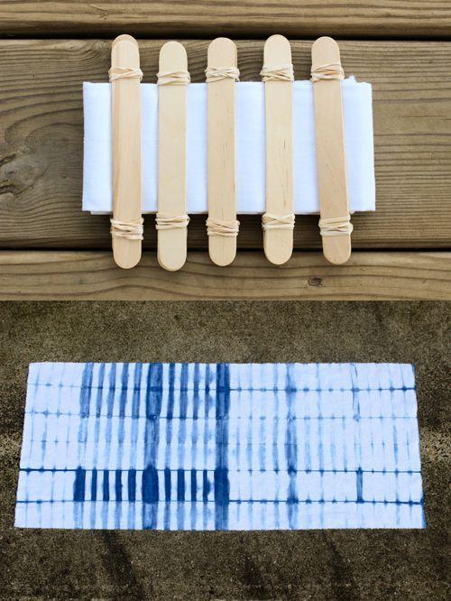 diy shibori indigo dyeing tutorial handmade pinterest teinture textile teinture ve. Black Bedroom Furniture Sets. Home Design Ideas