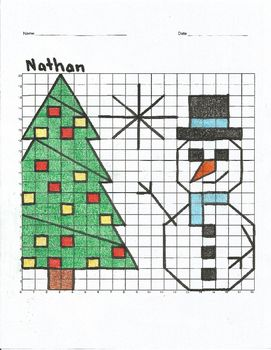 Christmas Bundle Coordinate Plane 5 Graphing Mystery Pictures Mystery Picture Graph Christmas Bundle Mystery Pictures