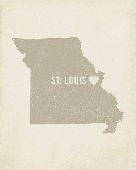 St Louis Art Print St Louis St Louis Art St Louis Etsy In 2020 Art Block St Louis Mo St Louis