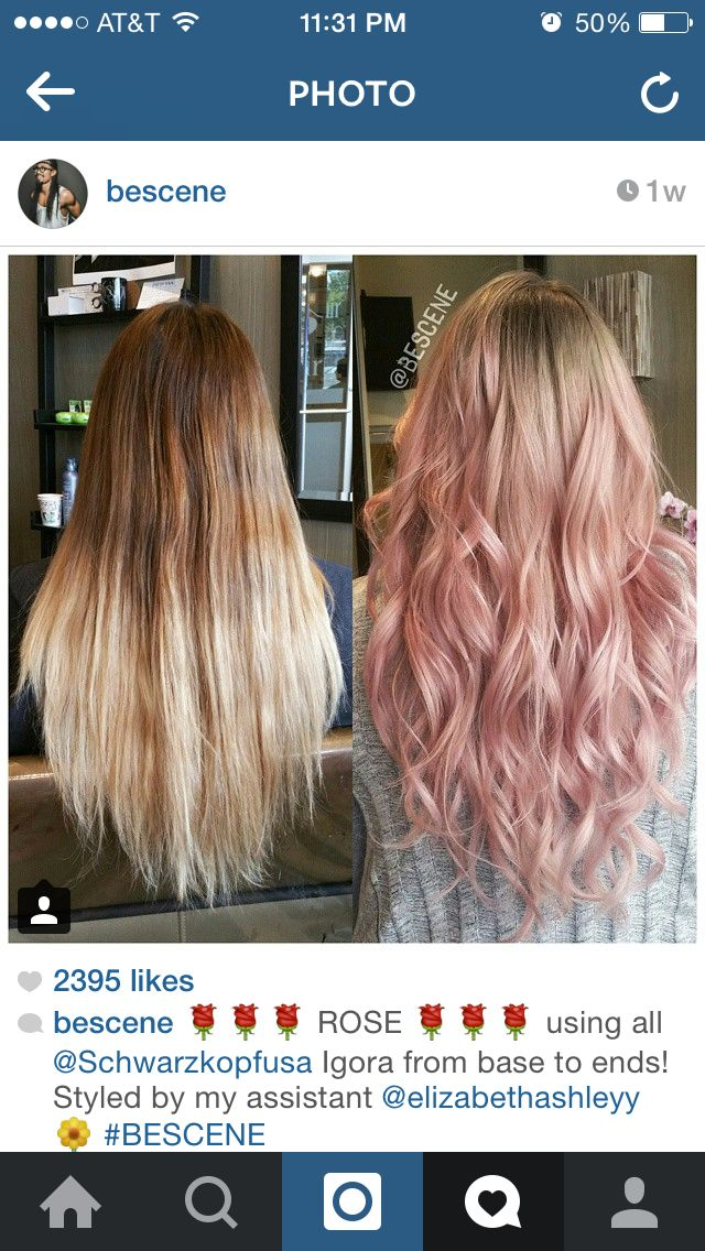 Bescene S Rose Gold Using Schwarzkopf Hair Styles Hair Color Ombre Hair