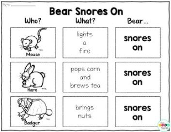 Bear Snores On: Interactive Read-Aloud Lesson Plans and