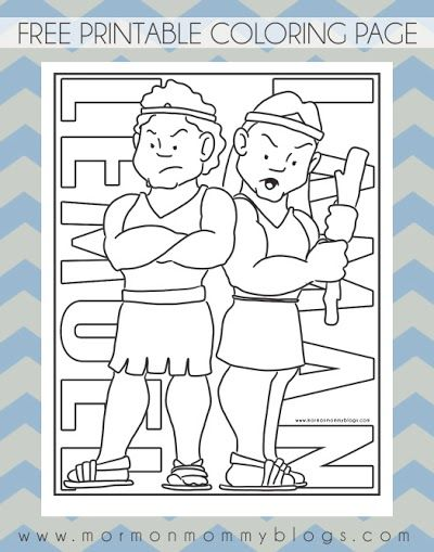 Free Printable Book Of Mormon Coloring Pages LDS Church Coloring ...