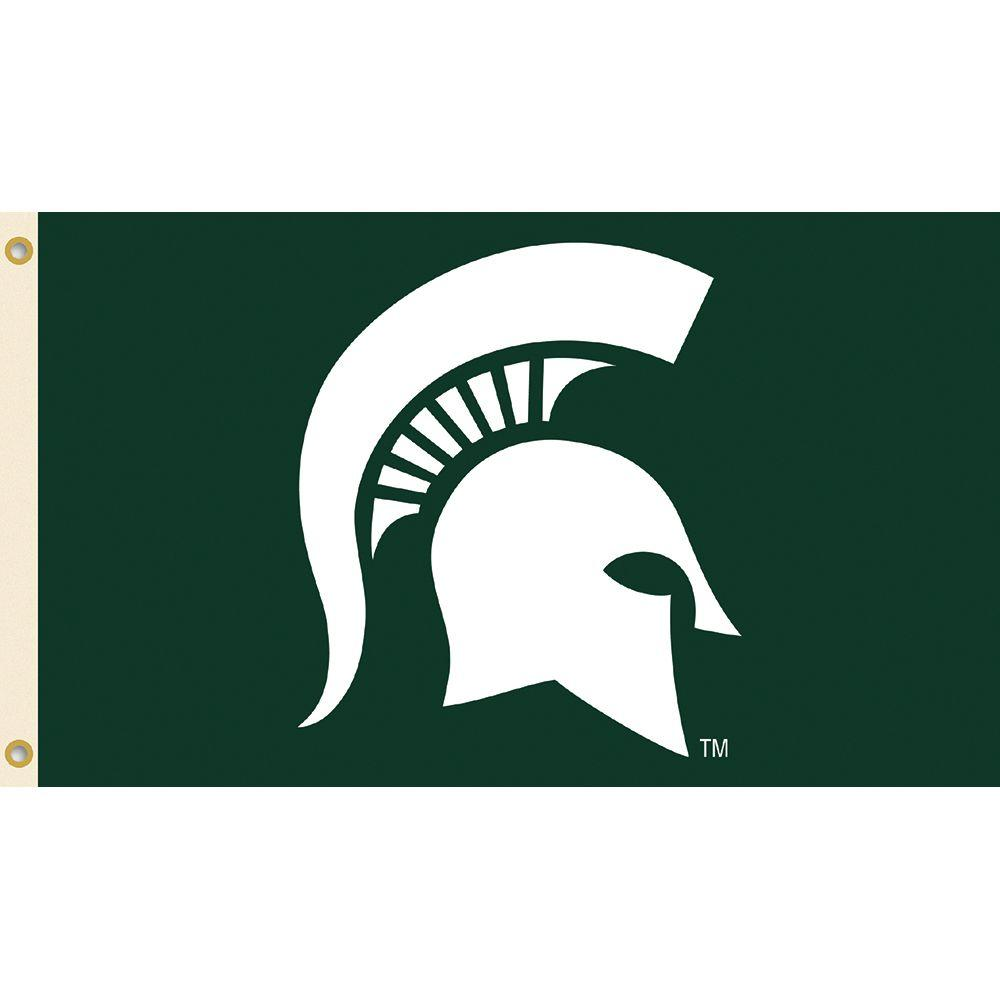 Bsi Products Ncaa Michigan State University 3 Ft X 5 Ft Collegiate 2 Sided Flag With Grommets Michigan State University Michigan State Spartans Michigan