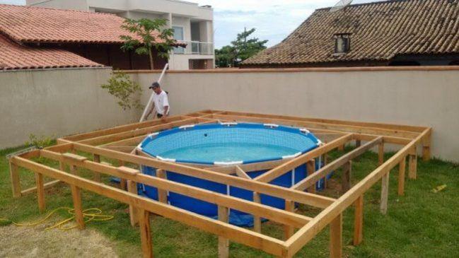Du musst keinen teuren Pool kaufen, wenn du handwerklich geschickt ...
