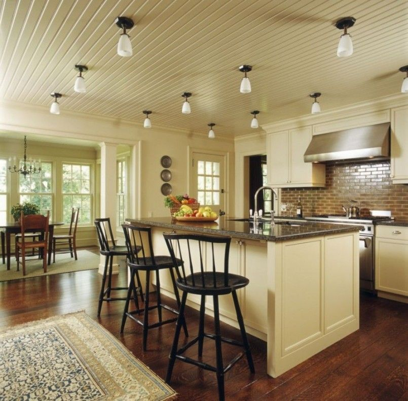 Kitchen Ealing Ceiling Lights And Large Island With Black Seating Idea Well Designed Lighting In Using