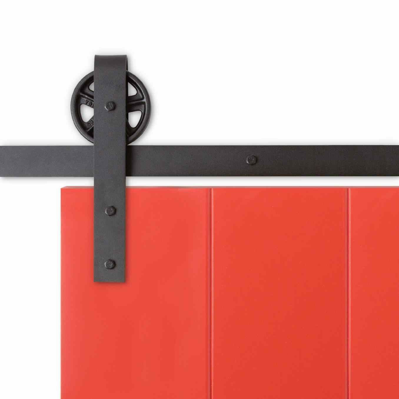 bypass sliding garage doors. Designed With A Rustic Spoke Wheel And Vintage Straps, Hanging Barn Doors Couldn\u0027t Be Easier The Sliding Door Hardware. Bypass Garage