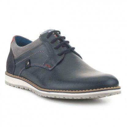 03970283 FOSCO Blucher Perforados Piel Fosco Azul Marino Zapatos Hombre Casual,  Zapatos Casuales, Zapatos De