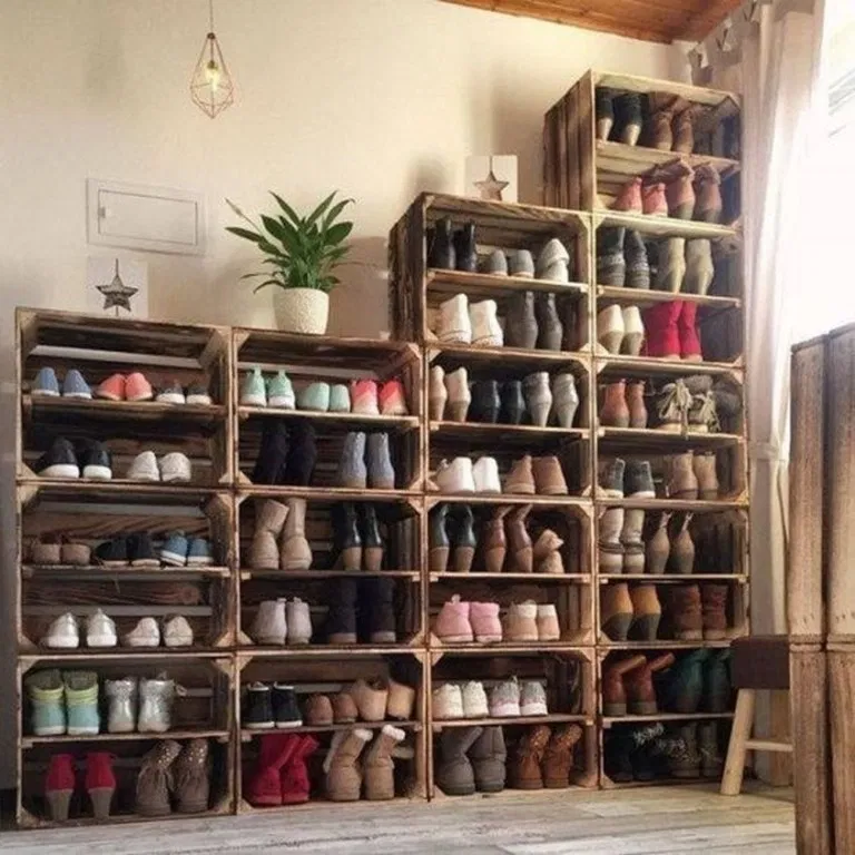 15 Cool Clever Shoe Storage Ideas For Small Spaces Page 7 Diy Shoe Storage Shoe Storage Design Wood Shoe Storage