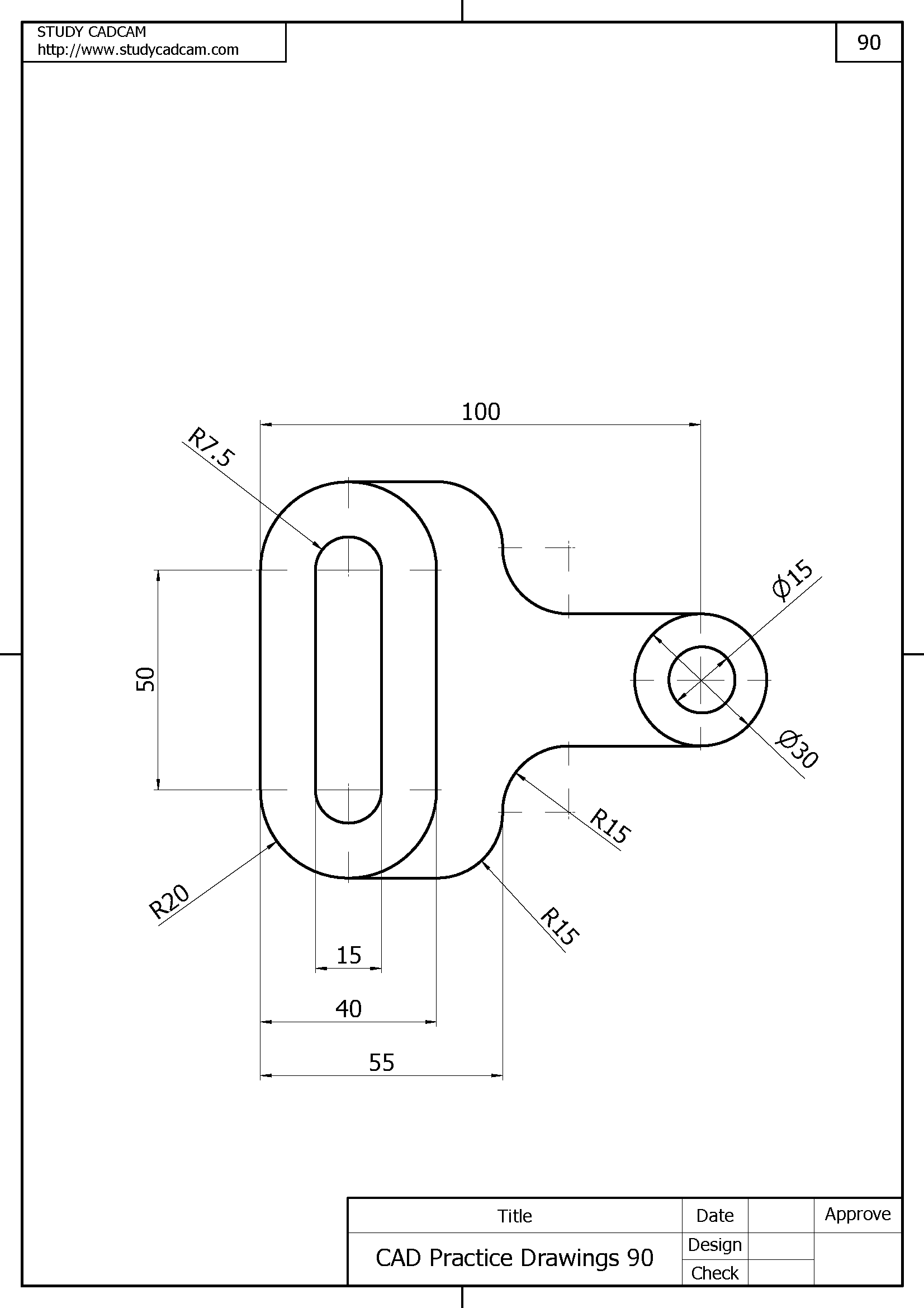 Cad Practice Drawings