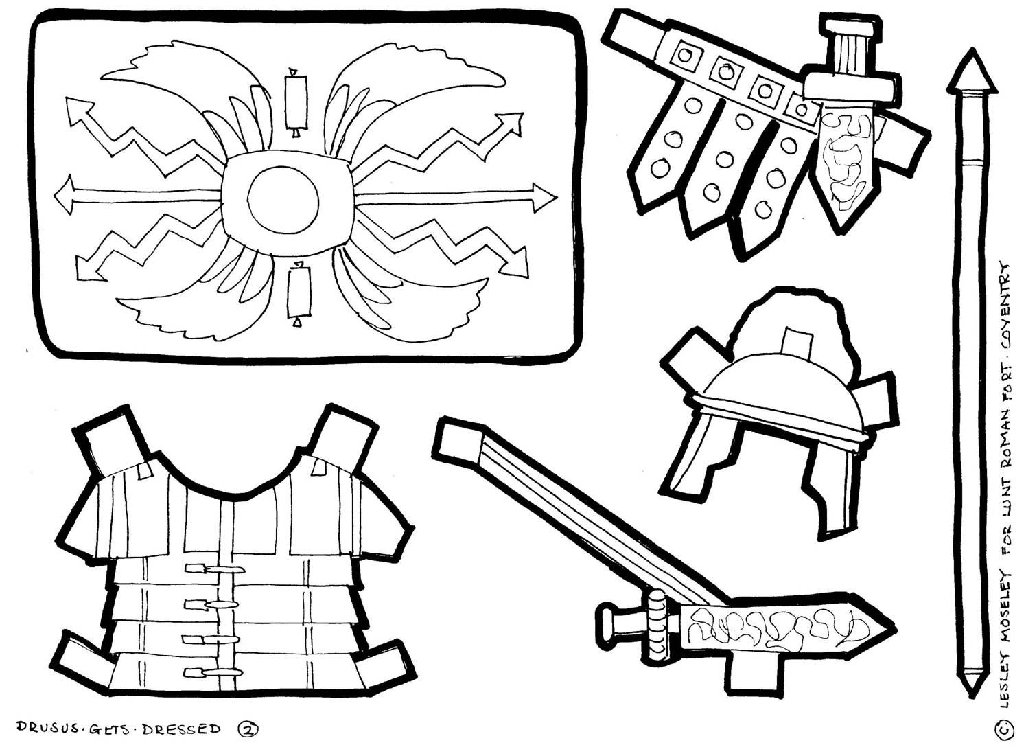 Roman Soldier Armor Coloring Page Roman Soldiers Designs To