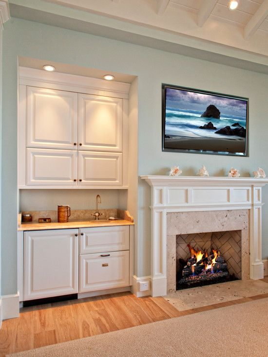 Images Of Small Mediterranean Style Wet Bars In Living Room