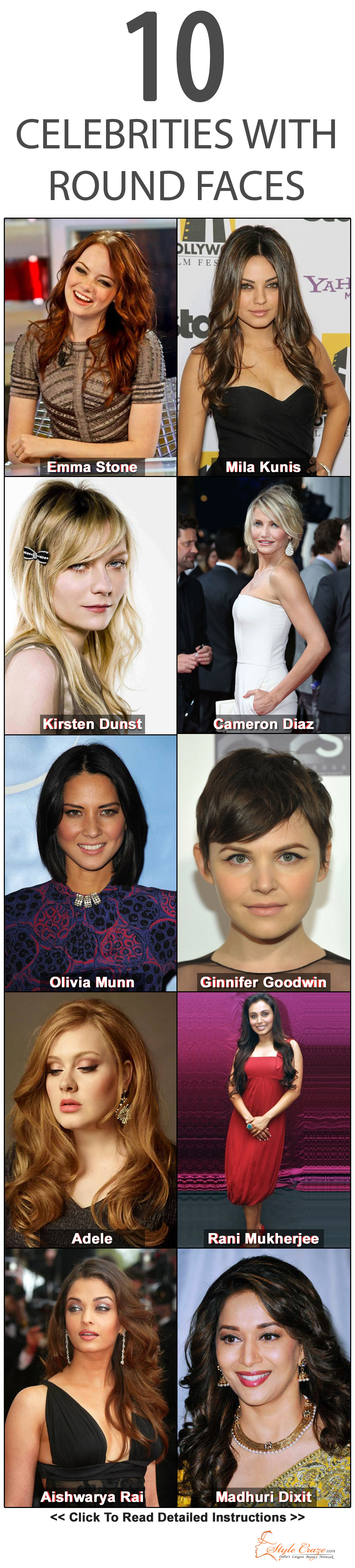 30 Best Round Faced Celebrity Hairstyles Hair Cuts For Round Faces