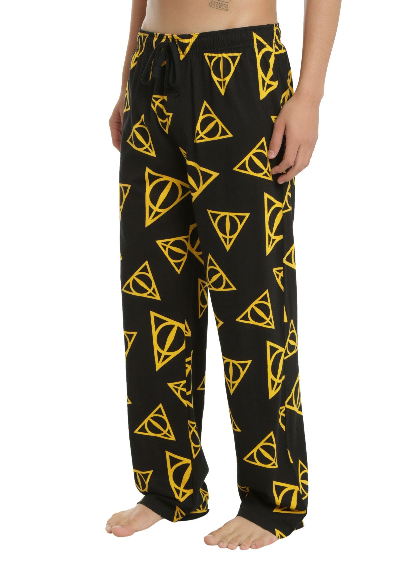 Harry potter deathly hallows print guys pajama pants