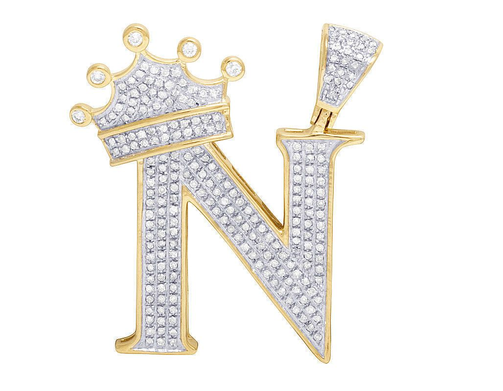 14k Gold crown earrings man made diamond