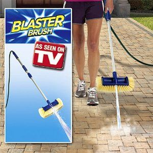 As Seen On Tv Blaster Brush Outdoor Powerful Hose Brush Cleaner By Apollo International 24 99 Extends 34 1 2 Cleaning Aluminum Siding See On Tv Rain Barrel