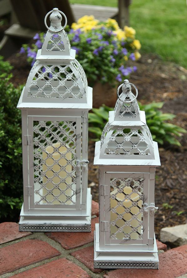Remote control lanterns for indoors and outdoors. Outdoor weatherproof candle included. Available in 2 sizes... GREAT !!