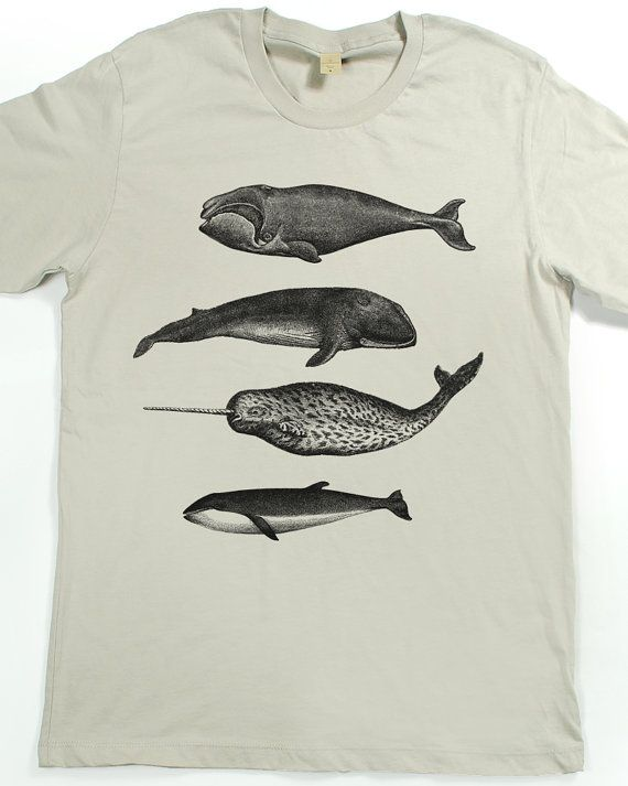 dbbd3710b923c Men's Whale Shirt - Men's Narwhal T-shirt - Whale Tshirt - Killer ...