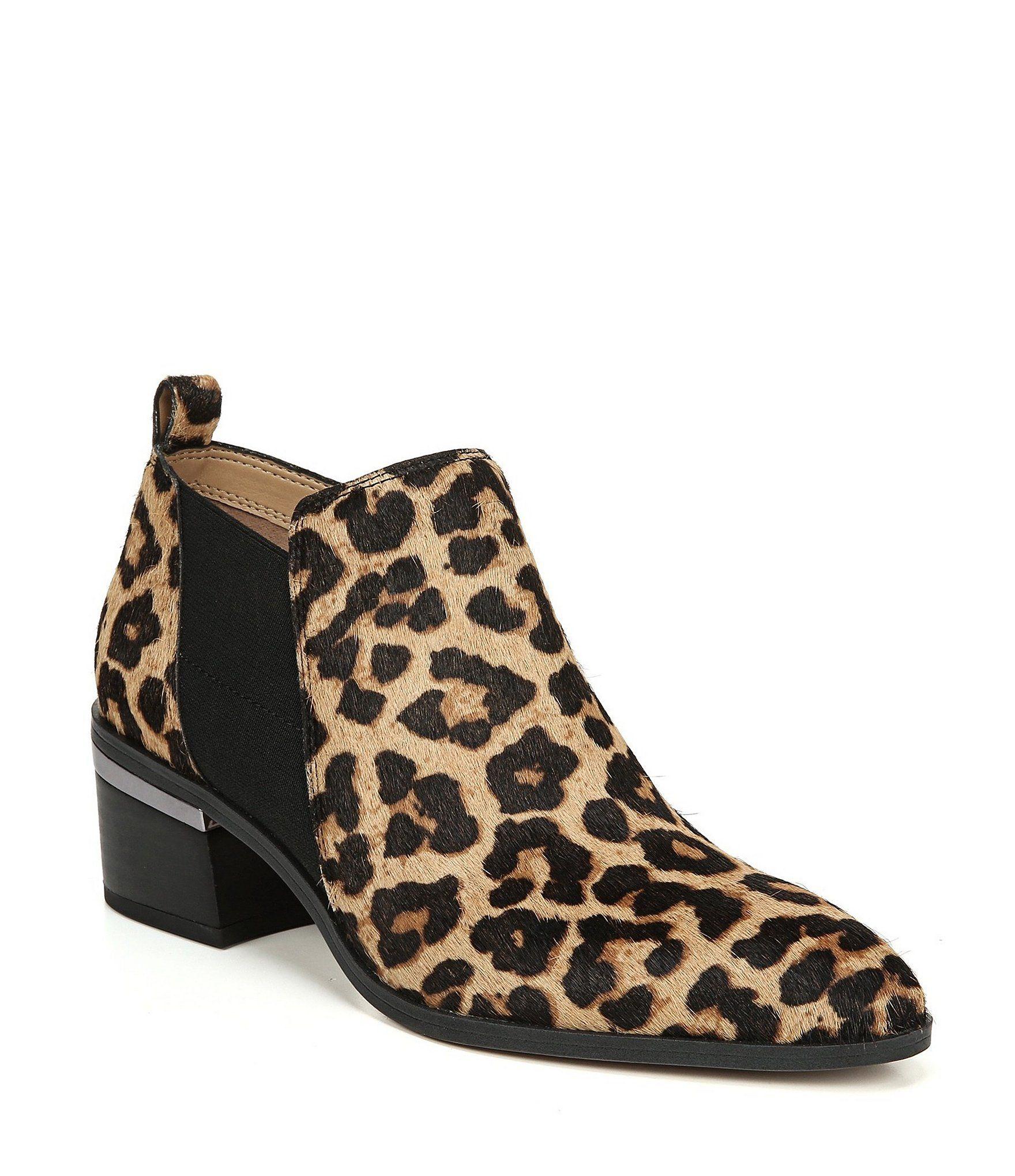 fc2e3d286a4c Boho V-Shaped Faux Suede Fringe Ankle Booties-Leopard Print   Shoes ...