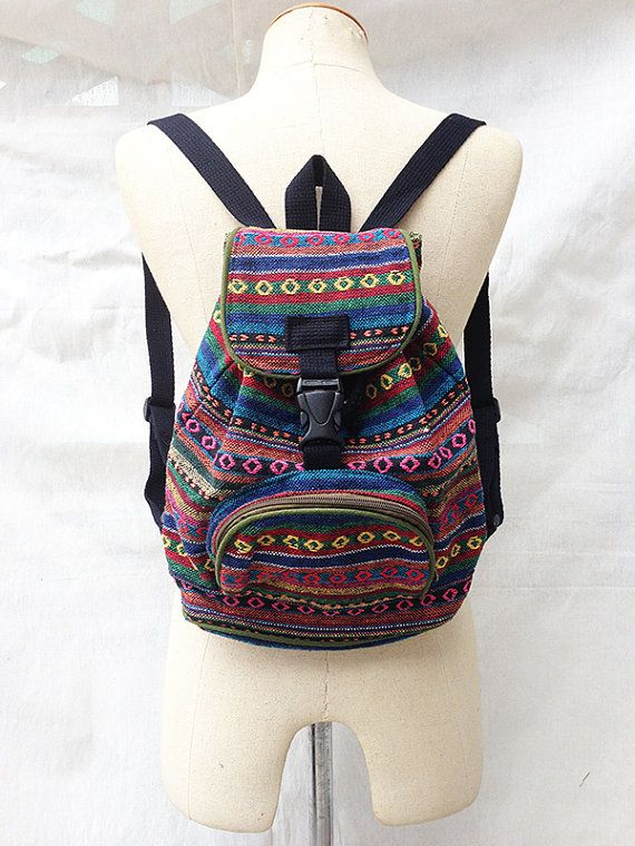 Handmade Tribal Medium Rucksack by MagnifiqueBangkok on Etsy