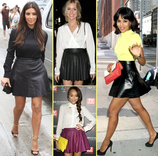 Currently Loving: Leather Skirts #Kimkardashian #Kristincavallari ...