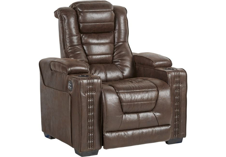 Eric Church Highway To Home Chief Brown Dual Power Recliner