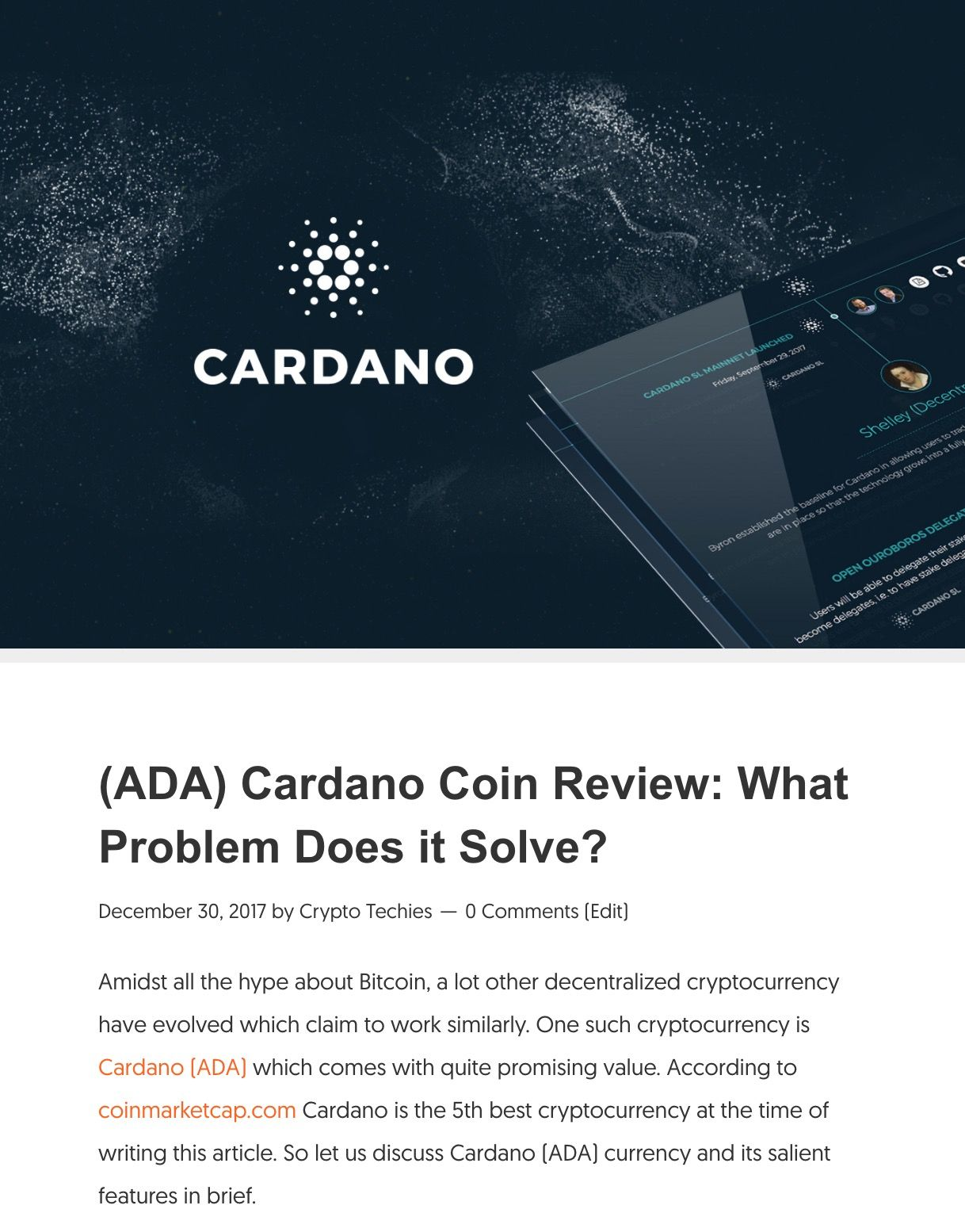 ada cryptocurrency review