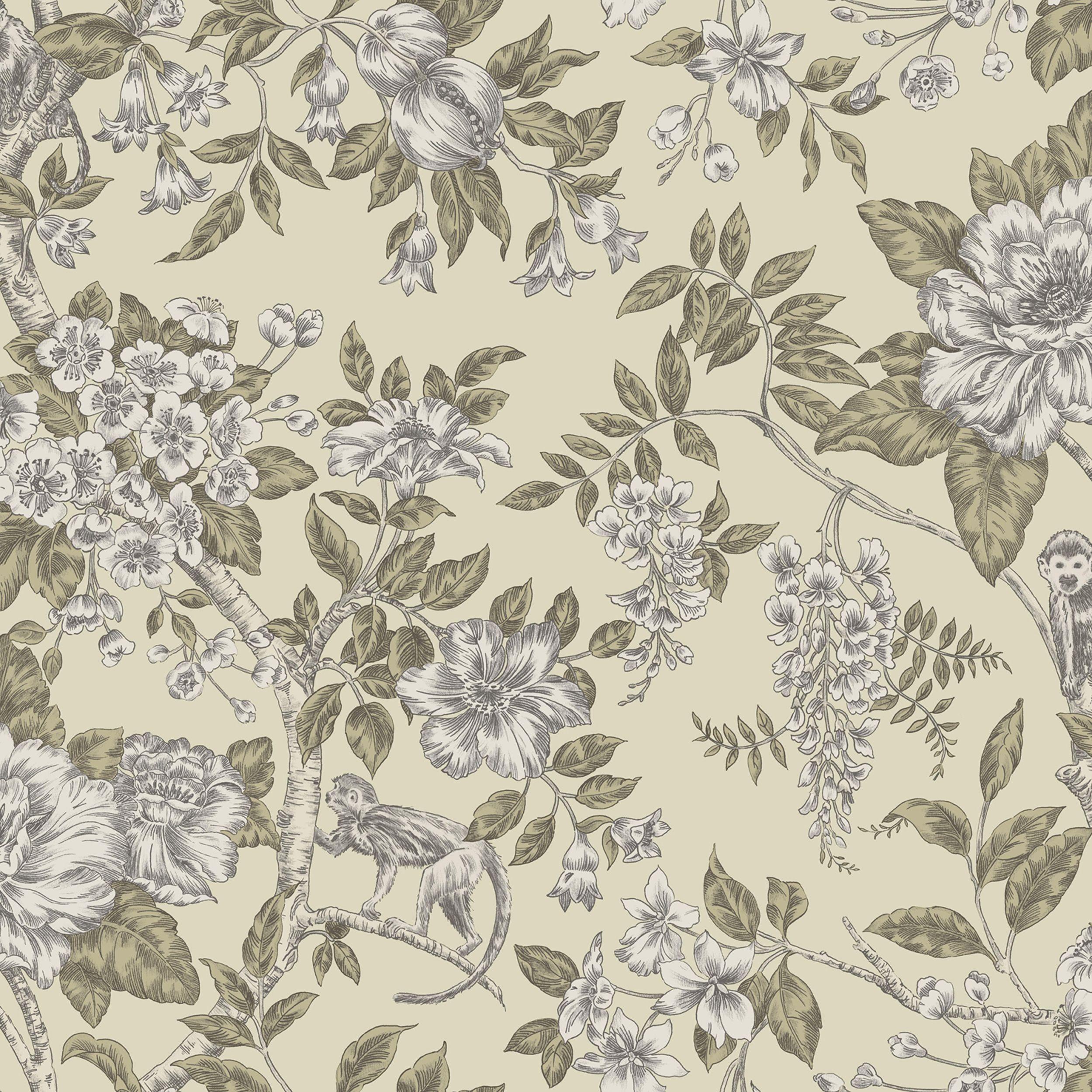 Home diy wallpaper illustration arthouse imagine fern plum motif vinyl - Statement Sumatra Cream Floral Wallpaper Floral Wallpapershome Ideas