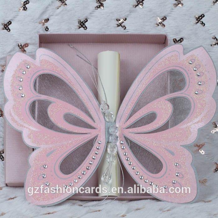 2015 Royal Scroll Butterfly Wedding Invitation Card   Wedding ...