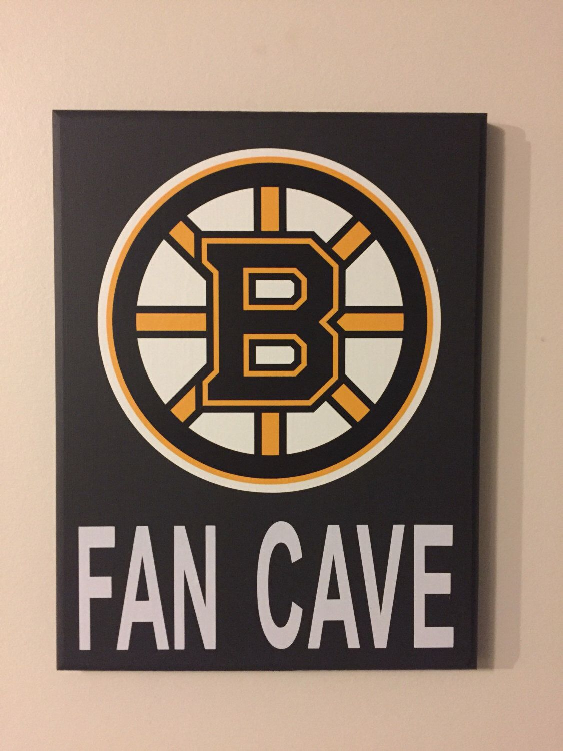 Boston Bruins Fan Cave Wood Sign Boston Bruins Wood Sign Nhl Boston Bruins Boston Bruins Boston Bruins Logo