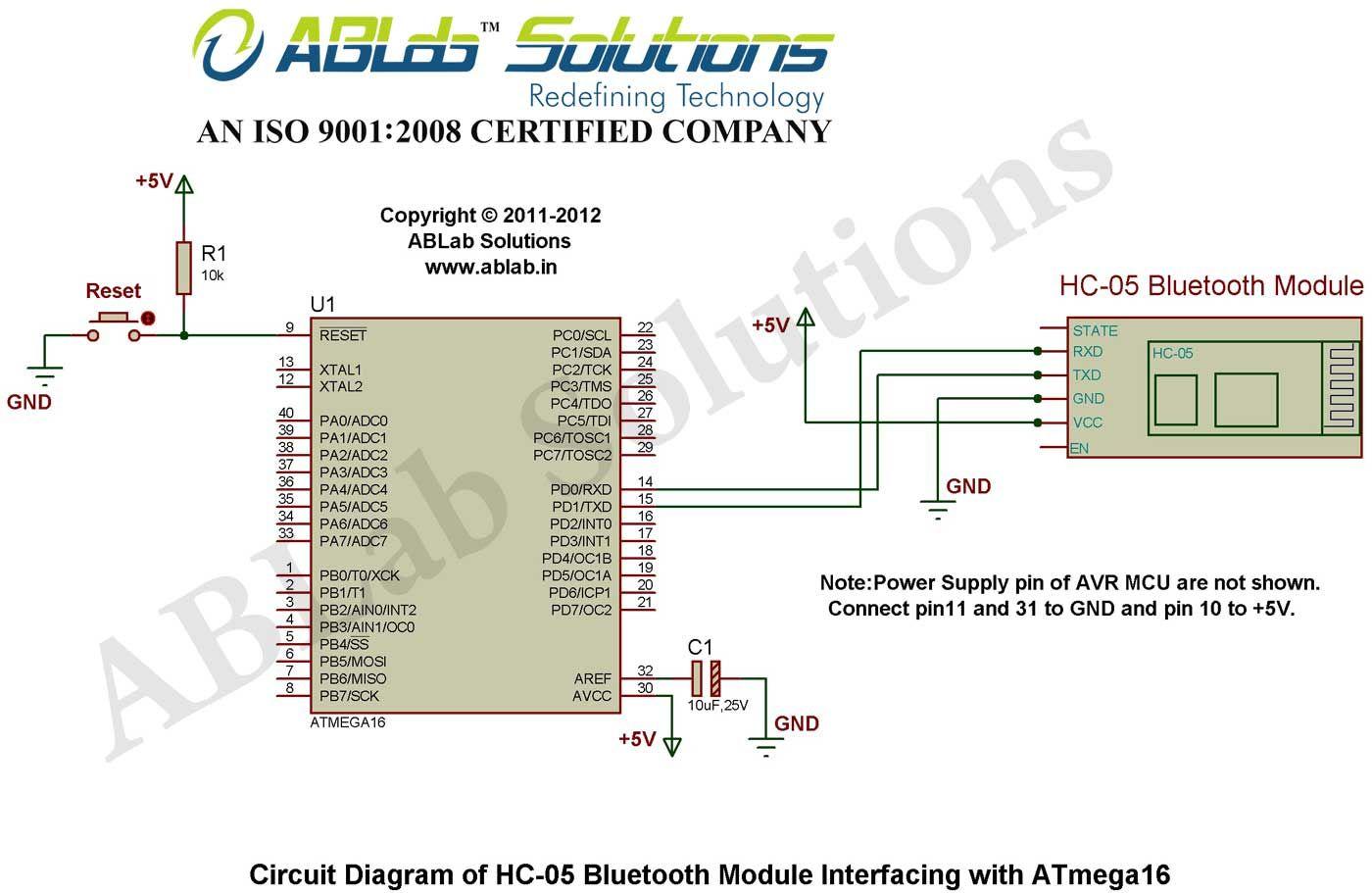 Hc 05 Bluetooth Module Interfacing With Avr Atmega16 Microcontroller Arduino Led Circuit Simulation Using Atmel Studio And Proteus Diagram
