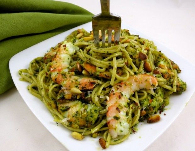 Edamame Pasta With Shrimp And Pesto Sauce With Images Edamame