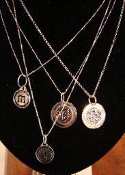 monogram pendants, wonderful chains.