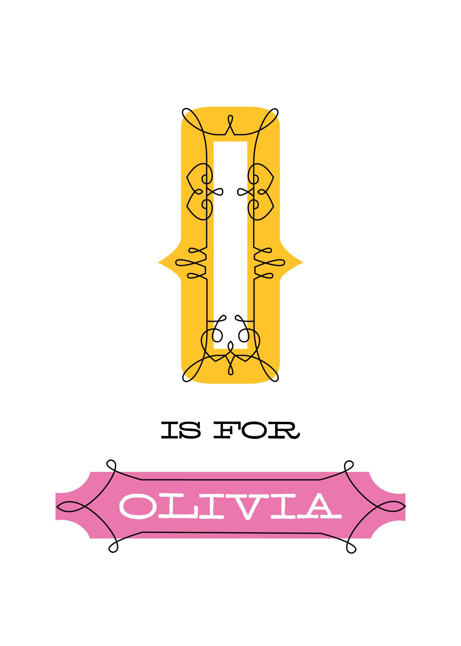 Free Olivia Name Printable 1500 2100