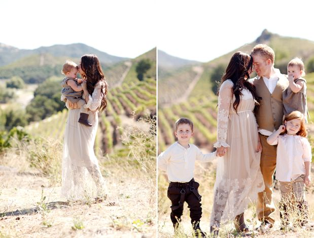 Vineyard Family Photo Ideas
