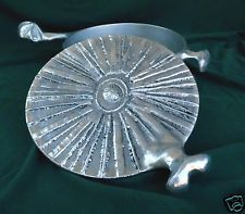Don Drumm Aluminum Covered Casserole Modernist Abstract Pewter Brutalist 3 QT